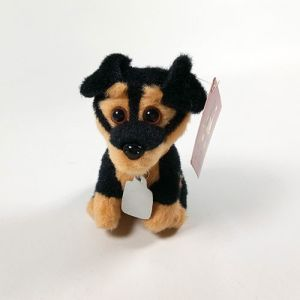 Plush Mini Toy Black Dog