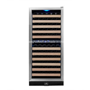 110bottles Built In Stainless Steel Lg Compressor Dual Zone Humidity Control Wine Cooler