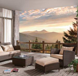 Wicker Outdoor Patio Rattan Home Hotel Office Panama Lounge Sofa Set J631