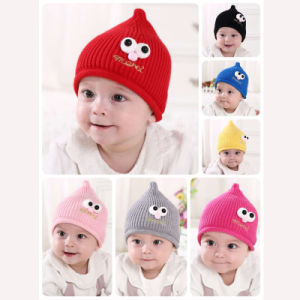 Baby Hat Cute Baby Toddler Kids Boys Girls Eye Print Knitted Winter Warm Hat  Cap Winter 77c951d51