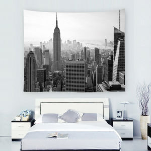 Modern City Tapestry From Bedroom Wall Decoration
