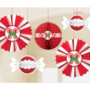 Umiss Paper Fan Honeycomb 3D Hanging Decorations for Christmas Party Decoration
