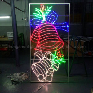 2017 New LED Christmas Outdoor Street Decoration 2D Bell Motif Lights