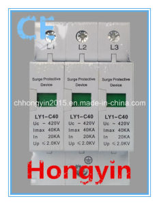 Ly1-C40-3p Class C Photovoltaic 20-40ka Surge Protector SPD pictures & photos