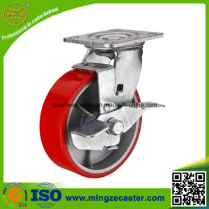 Medium Heavy Duty Sibe Brake PU Caster Wheels pictures & photos