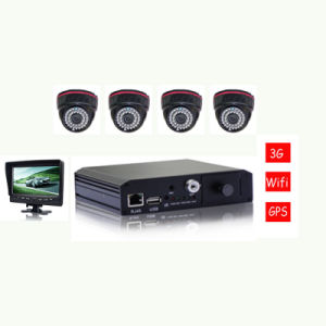 3G 4CH Mdvr /School Bus Mobile DVR with Camera with Monitor with Certificate pictures & photos