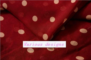 New Polka DOT Printed 100% Polyester Chiffon Fabric for Ladies Garments pictures & photos