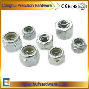 Carbon Steel Hex Nuts Nylon Insert Hex Nuts DIN985 DIN982 pictures & photos