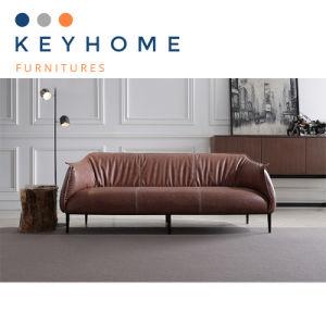 Living Room Furniture 3 Seater Genuine Leather Sofa (SF-005)