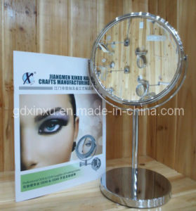 7.5 Inch Simple Metal Plated Cosmetic Mirror *J758*
