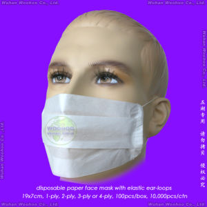1-Ply 2-Ply 3-Ply 4-Ply Disposable Paper Mask with Ear Hanging Elastic or Head Hanging Elastic pictures & photos
