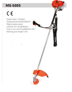 43cc Grass Trimmer with 2 Stroke