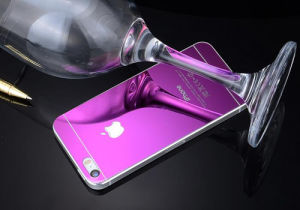 Tempered Glass Screen Protector for iPhone 5/5s/Se Electroplating Purple Color pictures & photos