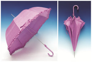 Auto Open Lace Edge DOT Printing Straight Umbrella (SK-005) pictures & photos