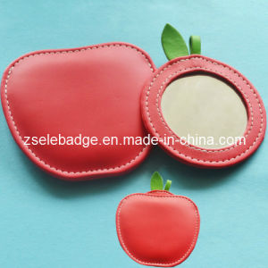 Pink Fashion Leather Case Mirror (ele-M001)