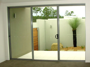 Aluminium Sliding Patio Doors with Double or Single Glasses pictures & photos