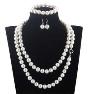 Snh Natural with Wedding Genuine Pearl Jewelry Set