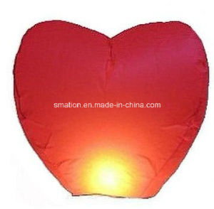 Heart Shaped Candle Balloon Wedding Wish Chinese Flying Paper Lanterns