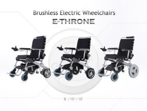 "12"" Folded Electric Wheelchair for Handicapped, Brushless and Long Life pictures & photos"