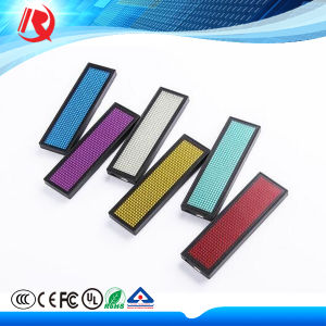 Hot Sale New Promotional Programmable Name Badge Mini LED pictures & photos