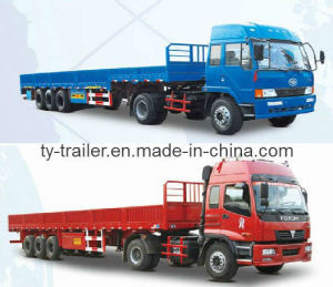 Drop Side Semi Trailer pictures & photos