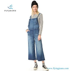 Jeans Jumpsuits Women Denim Overall with Wide Leg pictures & photos