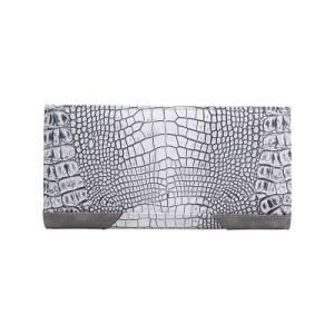 Grey Alligator Grain Leather Women Wallet pictures & photos