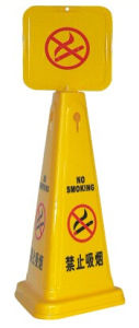 Plastic Small Size Yellow Caution Board (B-111) pictures & photos