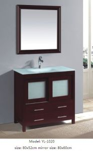 Modern Furniture Vanity with Glass Sink