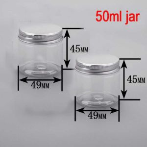 50ml Round Facial/Body Cream/Care Alu Cap Clear Plastic Pet Jar pictures & photos