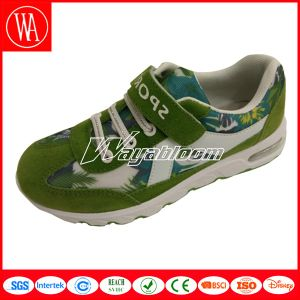 Kids Sports Shoes with Flowers and Magic Tape