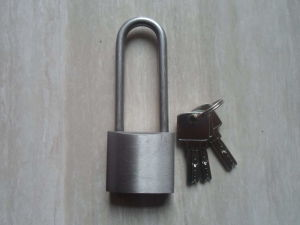 China Stainless Steel Padlock Long Shackle Atomic Key Padlock