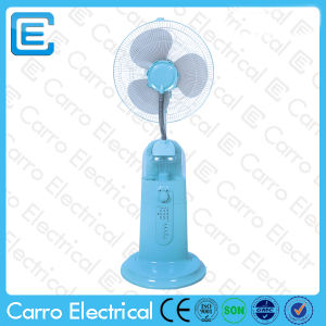 Popular Hot Sale Remote Control Pedestal Water Misting Fan in Battery Operated CE1601