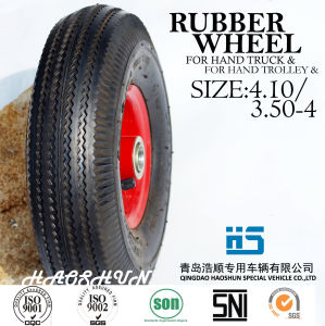 Hand Truck Tyre Trolley Tyre Pneumatic Barrow Rubber Wheel Tire 3.50-4 pictures & photos