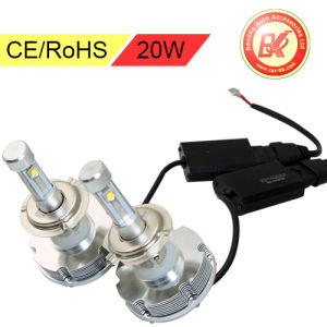 Universal 20W H7 Auto Lamp Headlight Heatsink 6000k Low Beam
