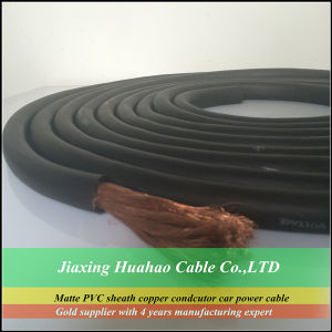 Matte PVC Insulation Copper Conductor 0AWG-18AWG Car Power Cable/Car Booster Cable pictures & photos