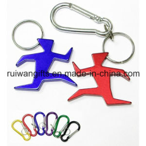 Customized Runner Sports Keychain Aluminum Bottle Opener Key Tag (ABO010) pictures & photos