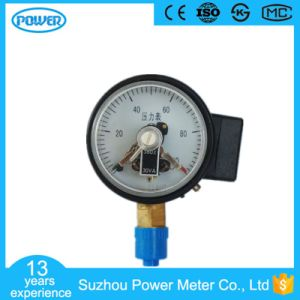 60mm 2.5′′ Black Steel Bottom Type Electric Contact Manometer pictures & photos