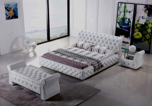 China European Chesterfield Style Leather Bedroom Sets - China ...