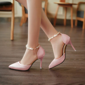 39dce55a5df40c Fashion Sexy High Heels Platform Wedges Sandals Pointed Pearl Buckle  Elegant Women′s Sandal Wholesale