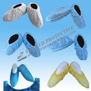 Red PVC Waterproof Shoe Cover or Plastic Shoe Cover pictures & photos