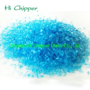 Hot Item Terrazzo Flooring Broken Crushed Chips Ocean Blue Glass