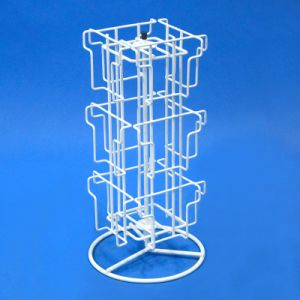 Table Top Iron Wire Metal Greeting Cards Rack Spinner Display Phy1010