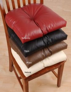 Beau Faux Leather Chair Pad