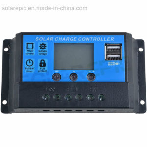 China PWM Solar Charge Controller 10A/20A/30A 12V/24V Regulator LCD