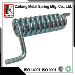 Custom Metal Torsion Spring with Double Ears in Carbon Steel for Machine, Home Appliance
