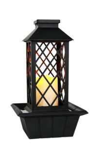 China Plastic Lantern Fountain With Candle Led Light China Tabletop Fountain Price