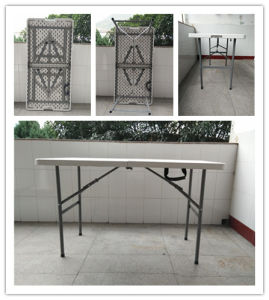 4ft/1.22m High Quality Plastic Folding In Half Table, Banquet Table, Dining