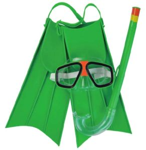 Diving Mask Snorkel Flipper Set