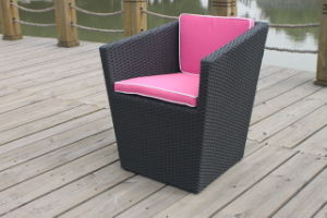 Outdoor Wicker Dining Chair with Cushion (LG30-3113)